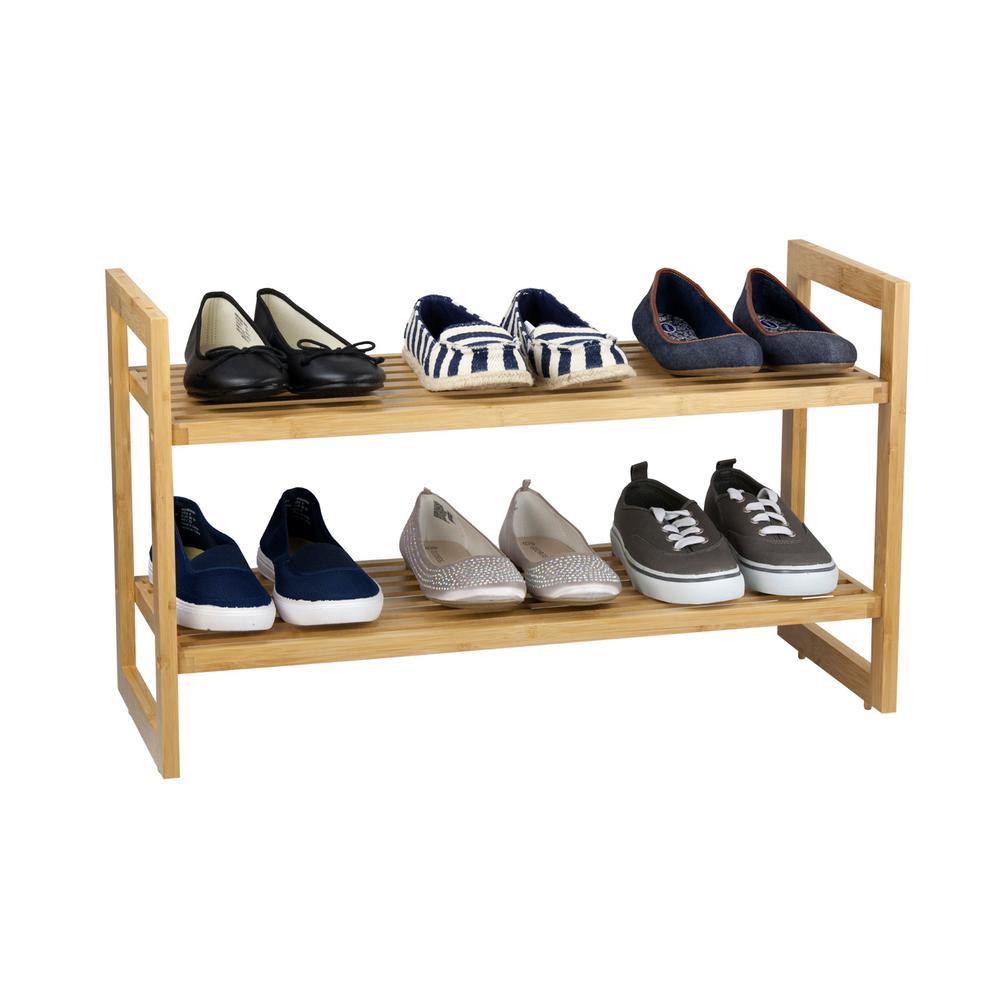 6-Pair Bamboo Shoe Organizer