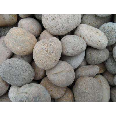 0.25 cu. ft. 1 in. - 2 in. Unpolished Brown Mexican Beach Pebble Bag (20-Pack / Pallet)