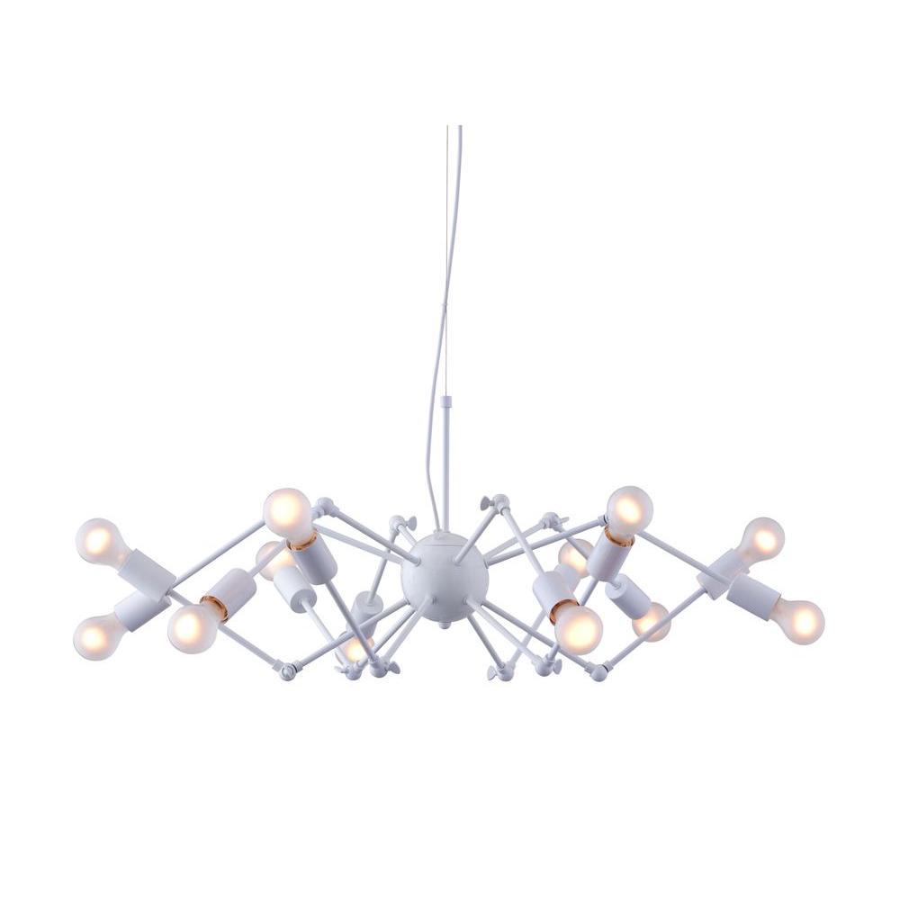 Sleet 12-Light White Ceiling Lamp