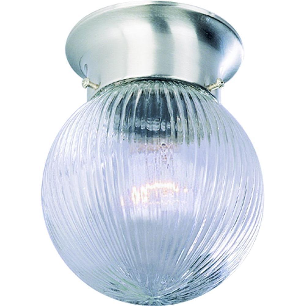 Volume Lighting Roth 1-Light Brushed Nickel Flushmount-V7303-33 ...