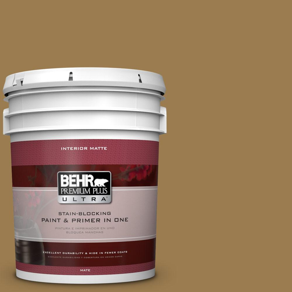 5 gal. #320F-6 Wool Tweed Flat/Matte Interior Paint