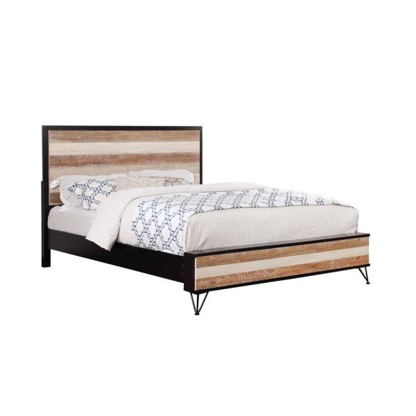 Hasselt Espresso and Multiple-Color Eastern King Bed