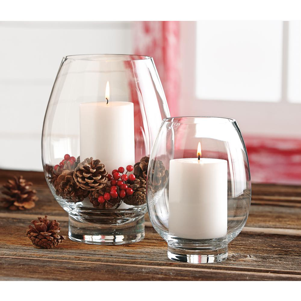 Tag Clear Glass Large Lotus Hurricane Candle Holder Tag550301 The