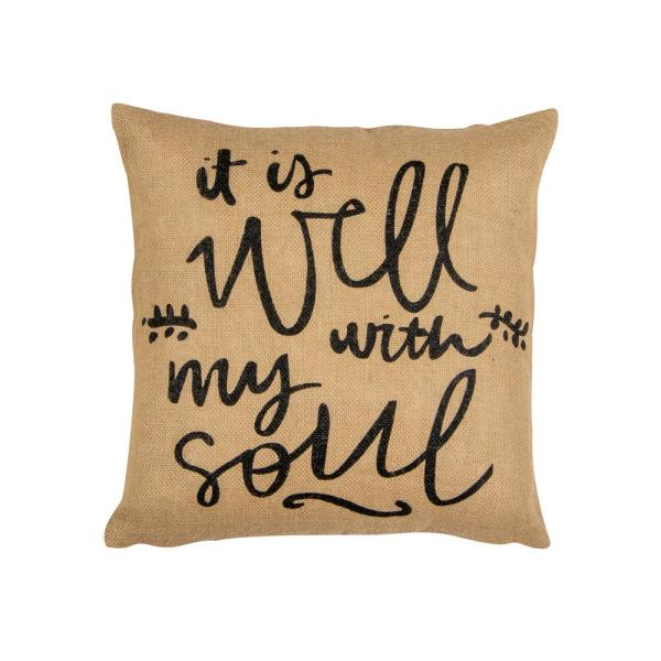 Well with My Soul Square Pillow 35491