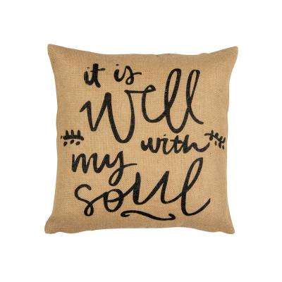 Well With My Soul Square Pillow