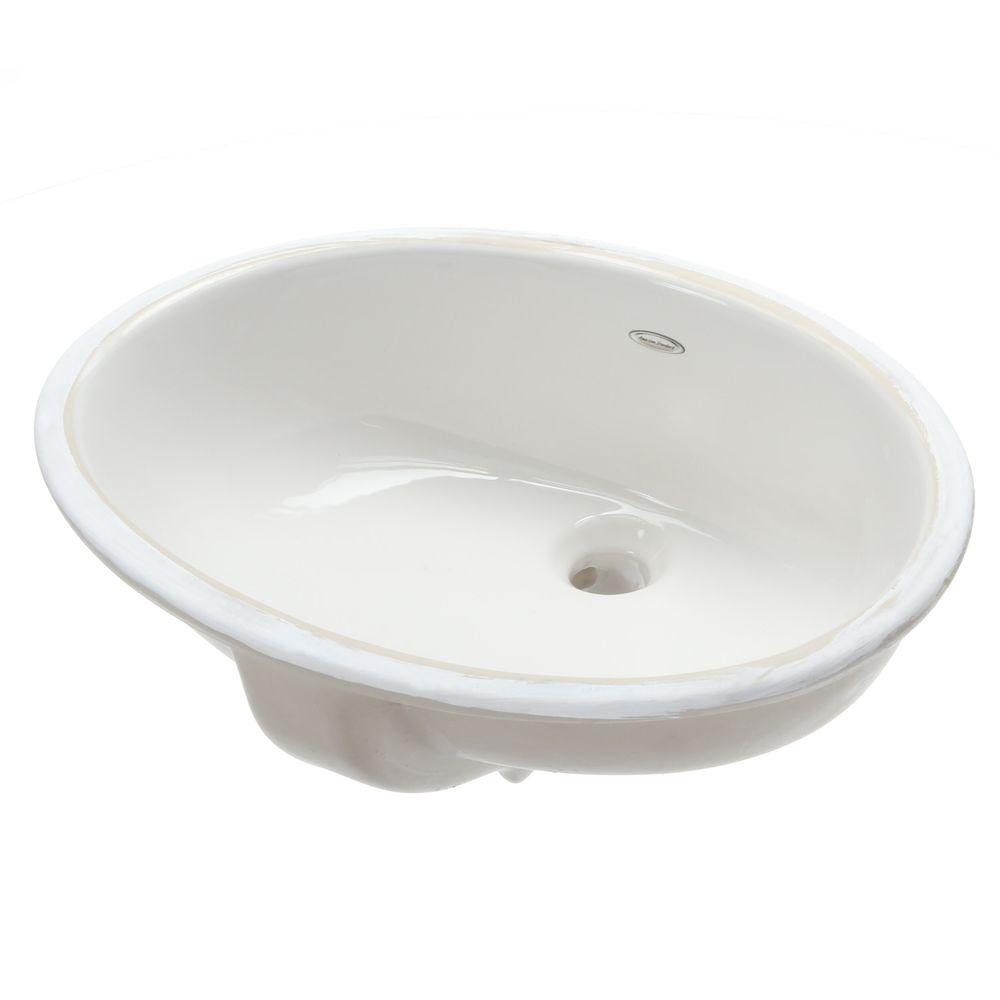 American Standard Ovalyn Undermount Bathroom Sink In White The Home Depot