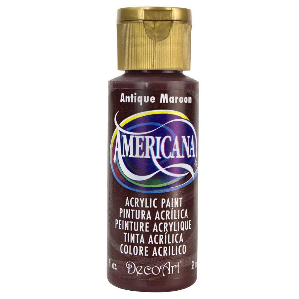 Americana 2 oz. Antique Maroon Acrylic Paint