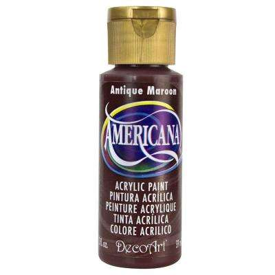 Americana 2 oz. Antique Maroon Acrylic Paint