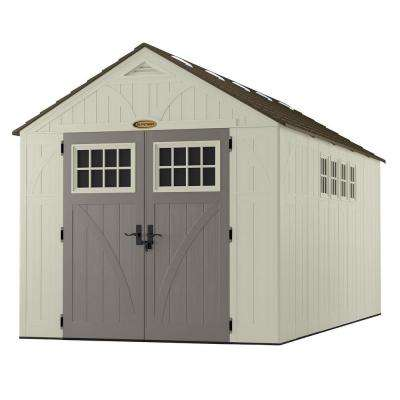 Tremont 16 ft. 3-1/4 in. x 8 ft. 4-1/2 in. Resin Storage Shed with Windows