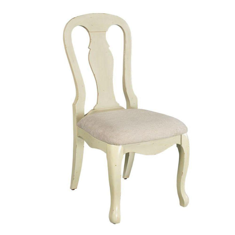 Home Decorators Collection Sheffield Side Chair in Antique Ivory