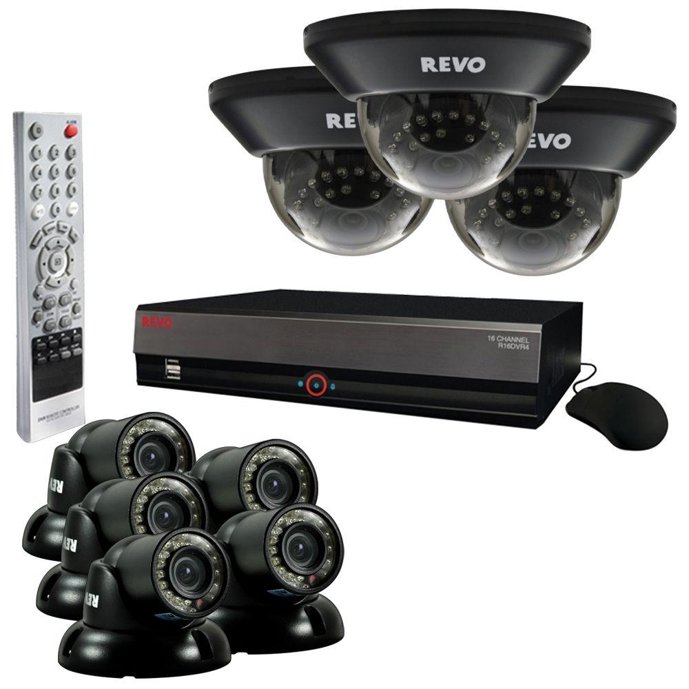 Revo 16-Channel 3TB Video Surveillance System with Wired (8) 700 TVL Quick Connect Cameras