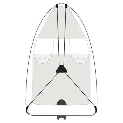 Boat Cover Support System Fits boats up to 27 ft. L