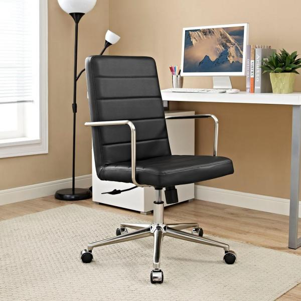 MODWAY Cavalier Highback Office Chair in Black EEI-2124-BLK