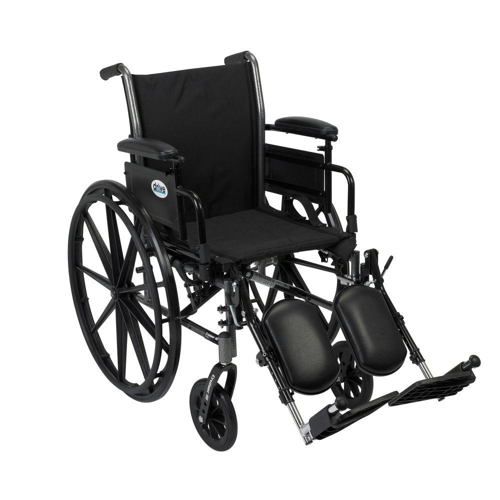 Cruiser III Wheelchair with Removable Flip Back Arms, Adjustable Desk Arms