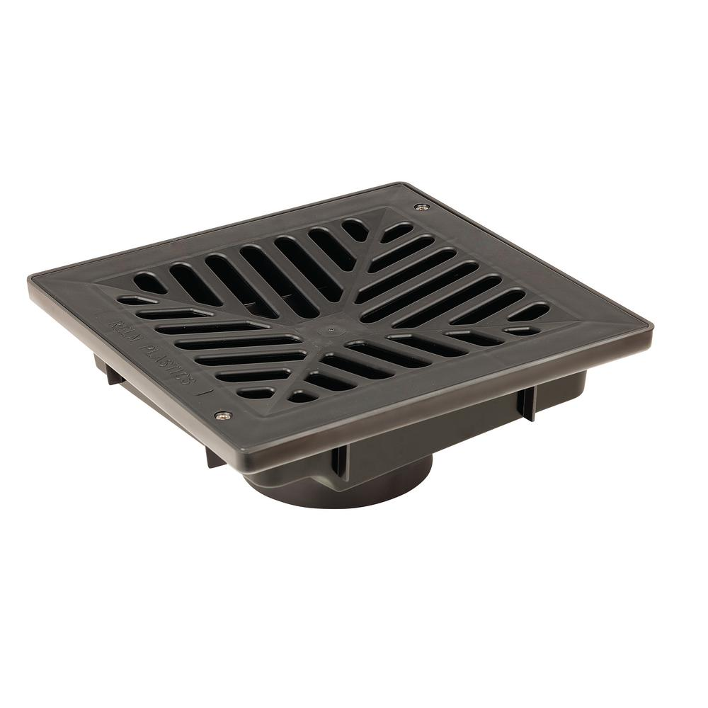 9 in. x 9 in. Vortex Catch Basin Complete with Black