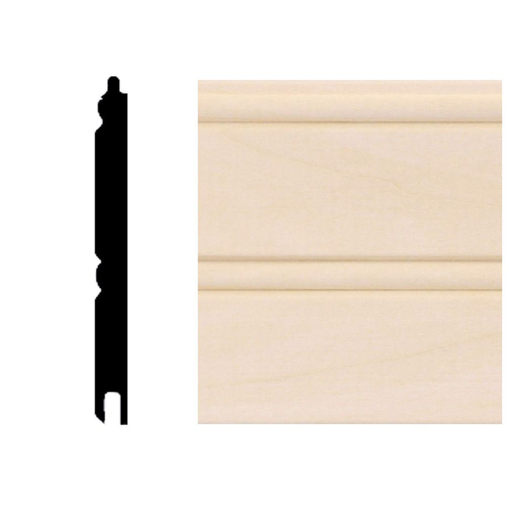 0.67 sq. ft. Basswood Tongue and Groove Wainscot Paneling