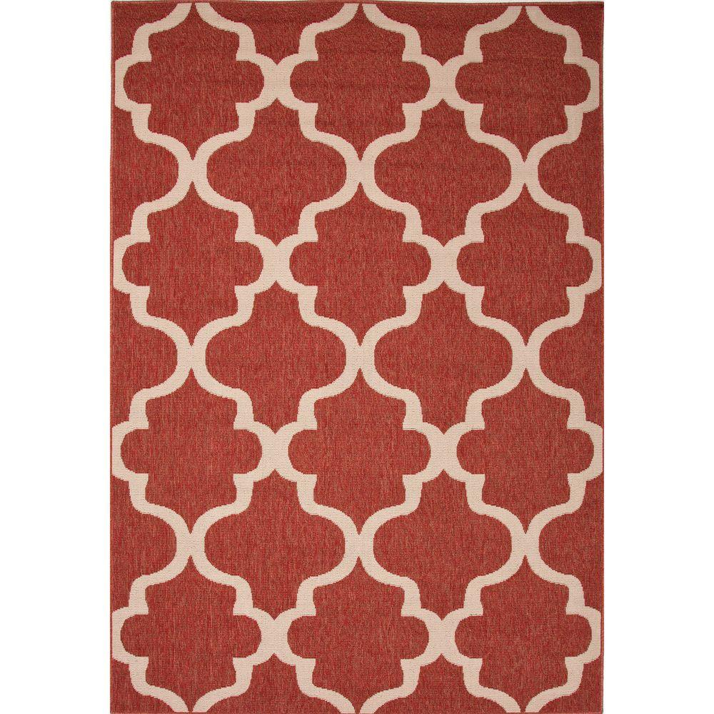 Home decorators collection hand made jester red 4 ft x 5 for Home decorators indoor outdoor rugs