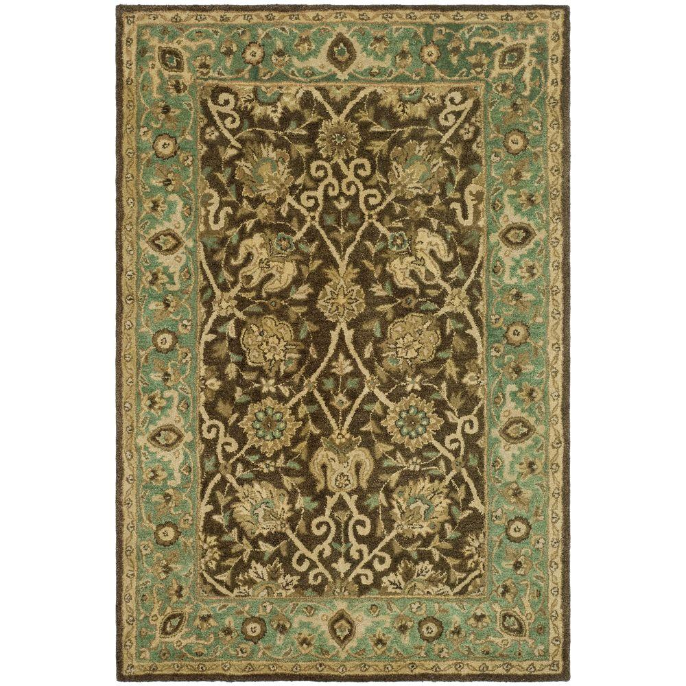 Safavieh Antiquity Brown Green 4 Ft X 6 Ft Area Rug
