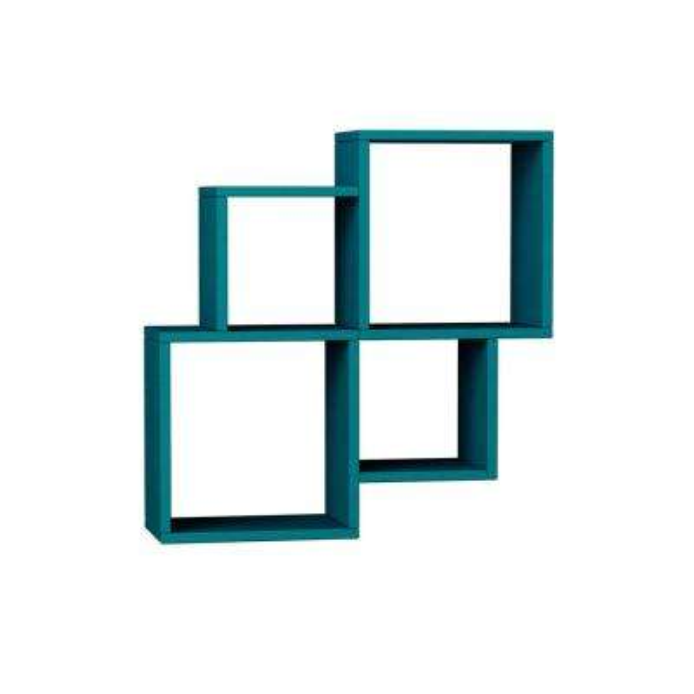 Watkins Turquoise Mid-Century Modern Wall Shelf