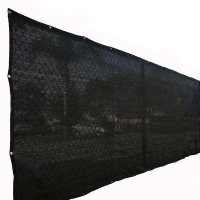 72 in. H x 600 in. W Polyethylene Black Privacy/Wind Screen Garden Fence