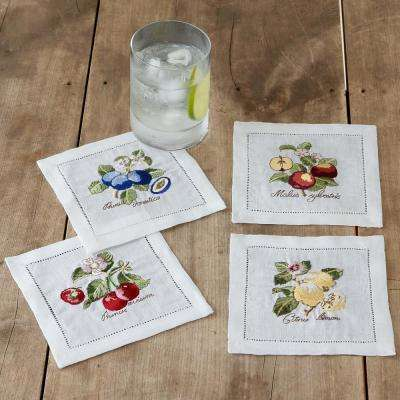 French Garden 6 in. W x 6 in. L in Assorted Patterns Cocktail Napkins (Set of 4)