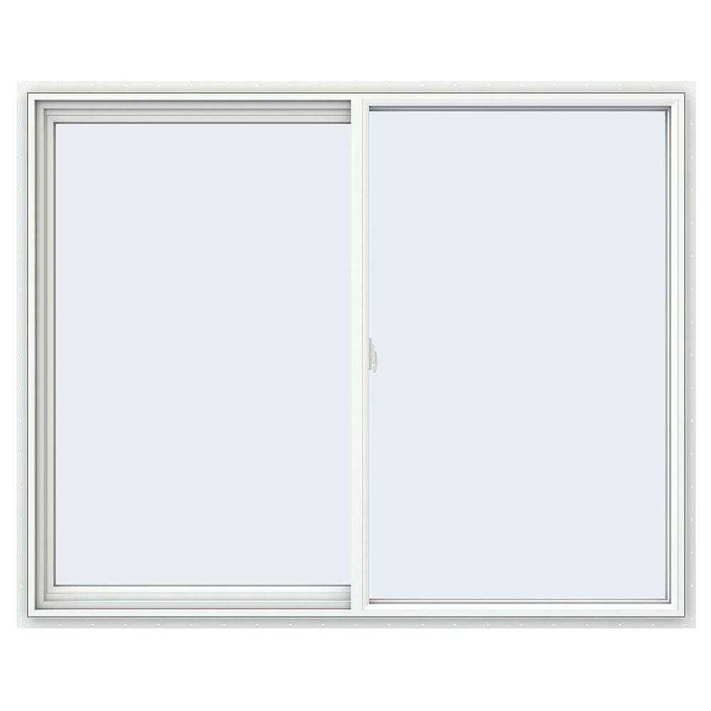 JELD-WEN 59.5 in. x 47.5 in. V-2500 Series Left-Hand Sliding Vinyl Window - White
