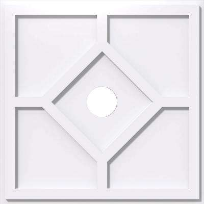 26 in. OD x 4 in. ID x 1 in. P Embry Architectural Grade PVC Contemporary Ceiling Medallion
