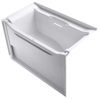 Elevance 5 ft. Acrylic Right Drain Rectangle Alcove Non-Whirlpool Bathtub in White