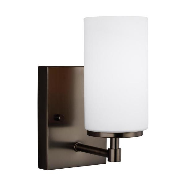 Alturas 4.375 in. Brushed Oil Rubbed Bronze Sconce with LED Bulb