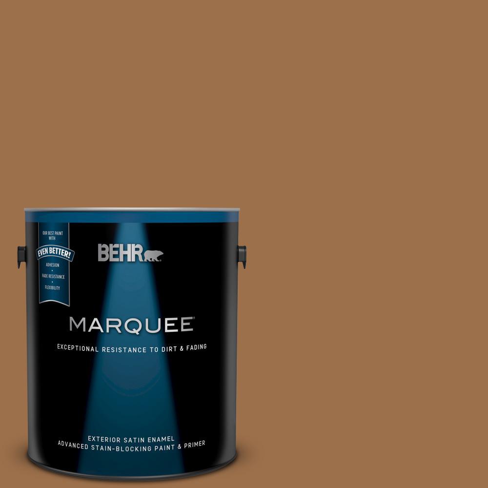Behr Premium Plus Ultra 1 Gal Ul150 17 Olympic Bronze Satin Enamel Interior Paint And Primer