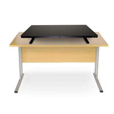 Electric Powered Black Adjustable Standing Desk