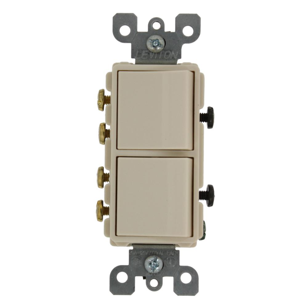 Leviton Double Switch Light Wiring