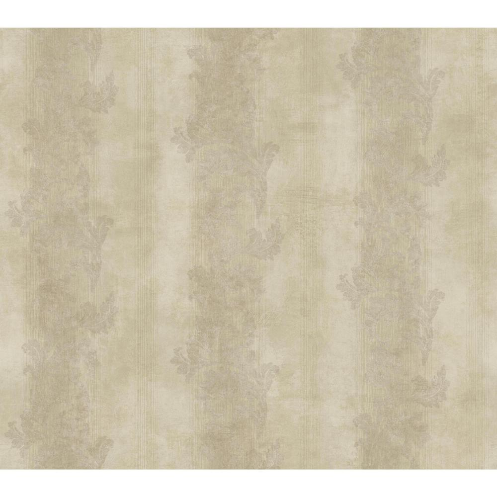 Gold Leaf Acanthus Stripe Wallpaper