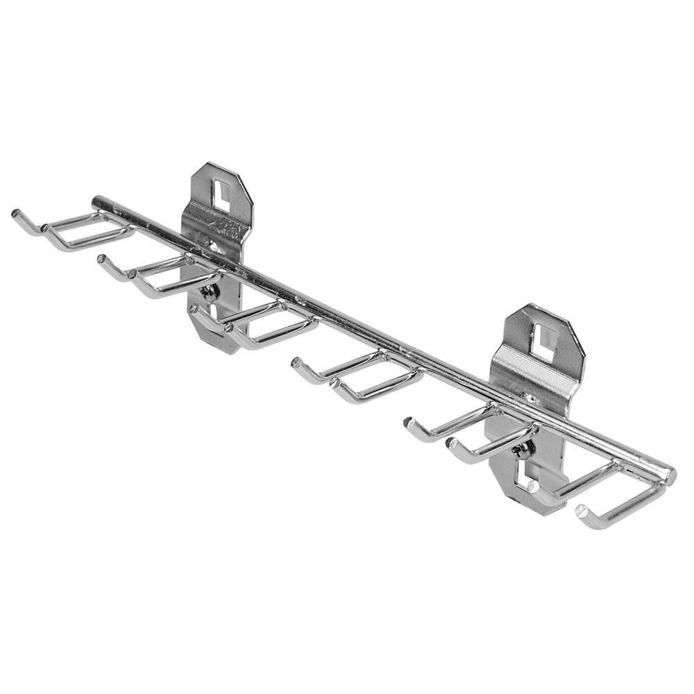 Multi-Prong Tool Holder Stainless Steel LocBoard Hooks (1-Pack)