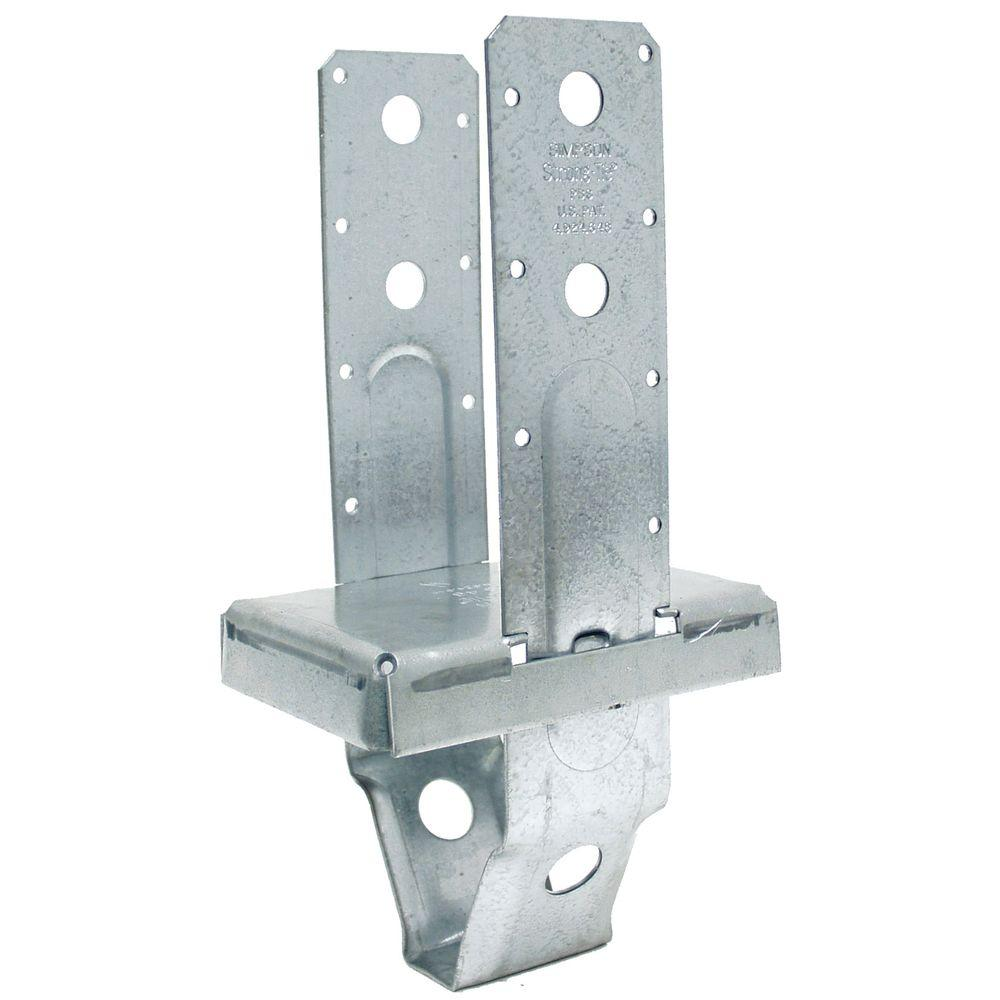 Simpson Strong Tie Pbs 4 In X 6 In Galvanized Standoff Post Base