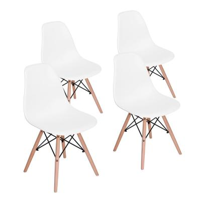 Side Chairs Dining Chairs White Wood Leg (Set of 4)