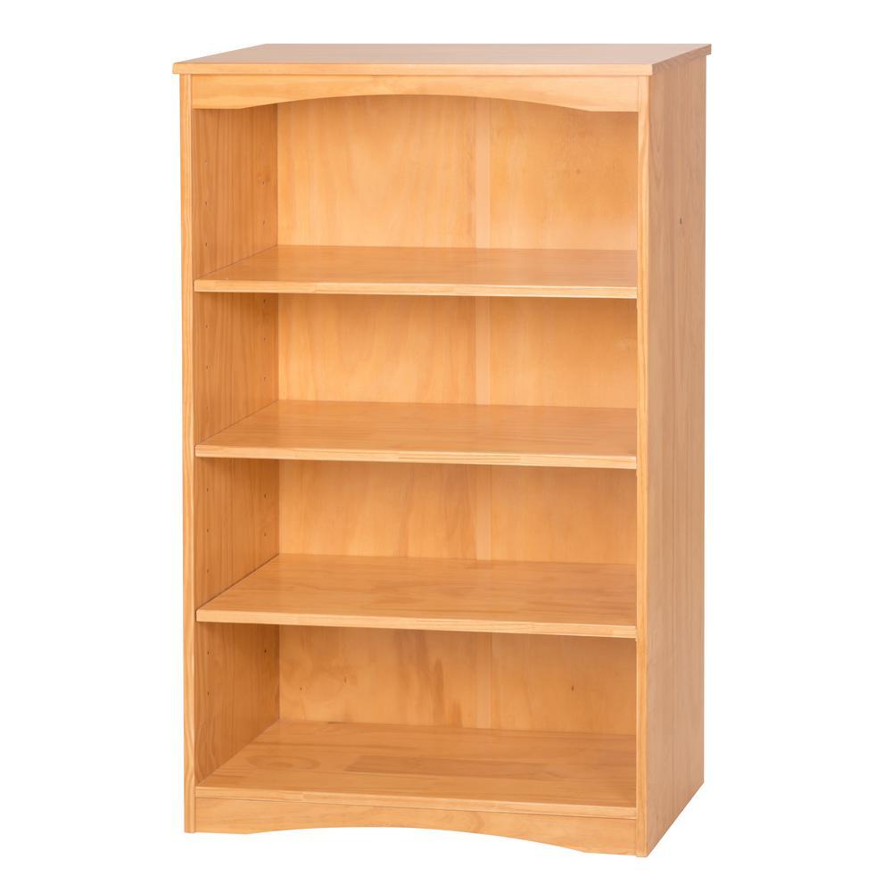 Essentials Natural 48 in. H Wooden Bookcase