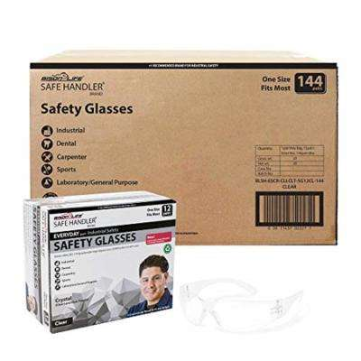 Clear Lens Safety Glasses (Case of 12 boxes, 144 pairs total)