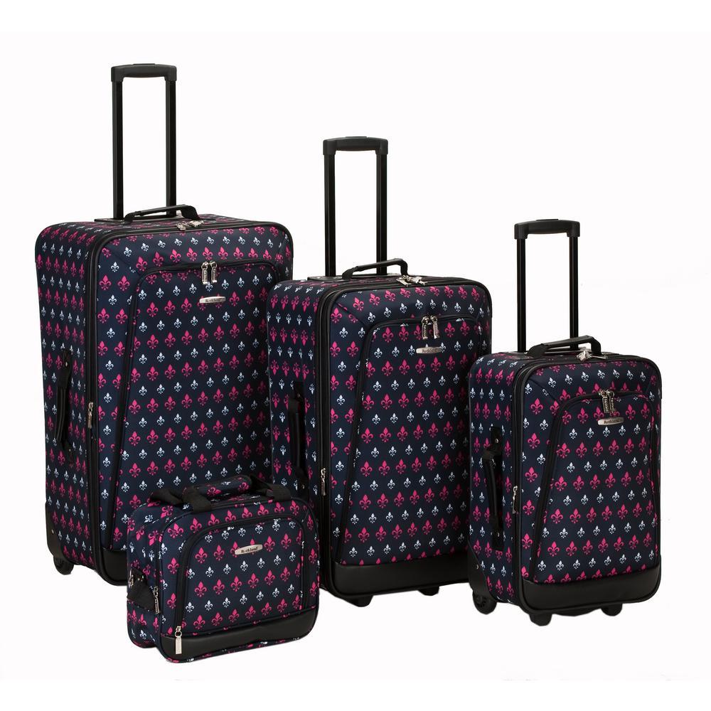Rockland Nairobi Expandable Luggage 4-Piece Softside Luggage Set, Blackicon