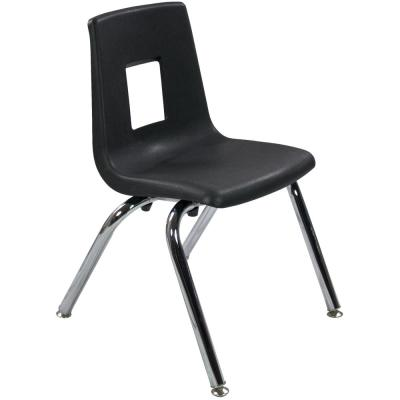 14 in. Black Student Stack School Chair