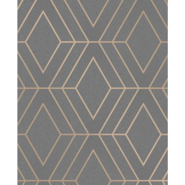 Advantage Adaline Taupe Geometric Wallpaper 2834 42352
