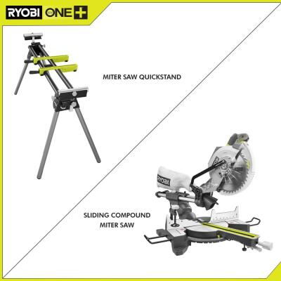 15 Amp 10 in. Sliding Compound Miter Saw and Universal Miter Saw QUICKSTAND