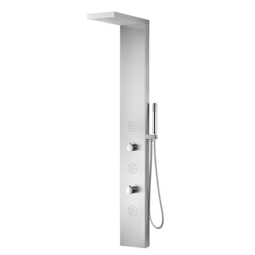 TUNDRA Series 52 in. 3-Jetted Full Body Shower Panel System with