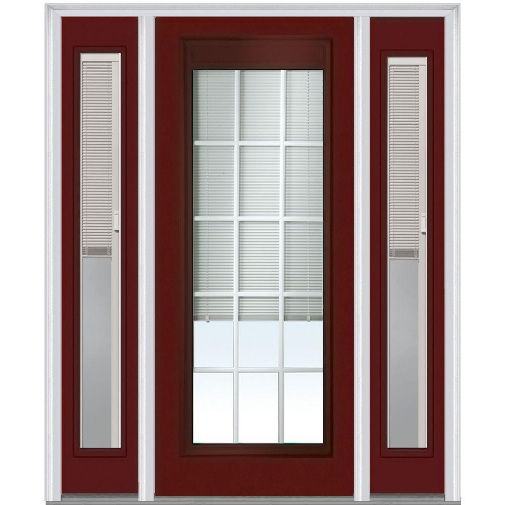 Mmi Door 64 In X 80 In Internal Blinds And Grilles Right Hand Full