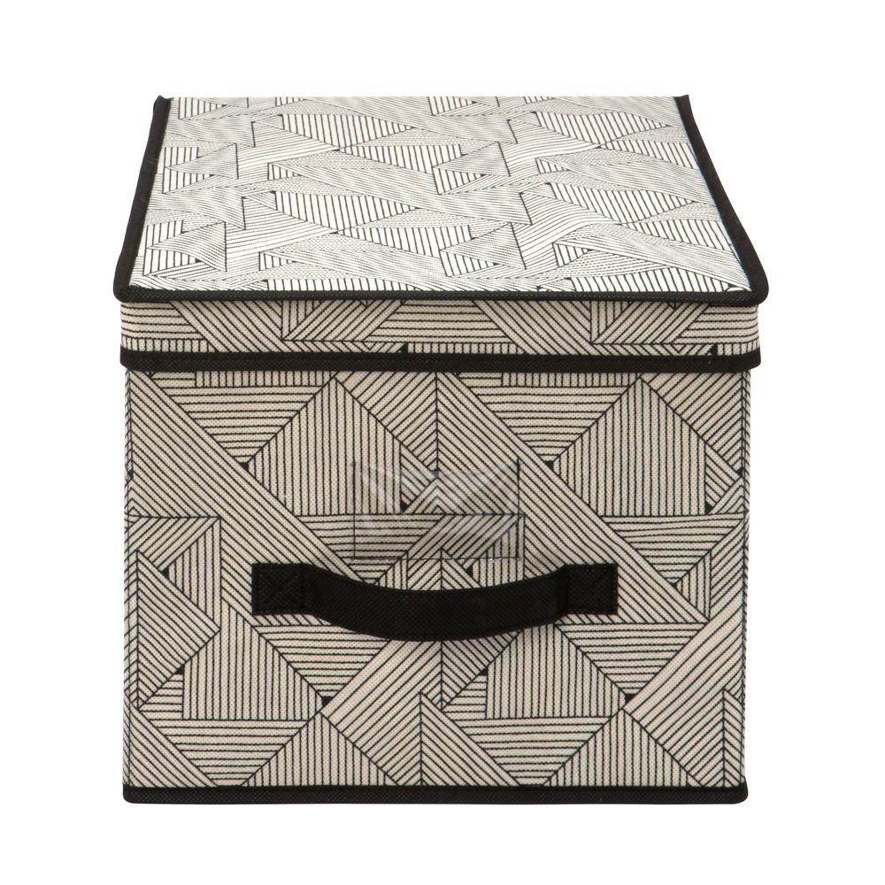 The Macbeth Collection 12 in. x 16 in. x 10 in. Geo Natural Large Storage Box