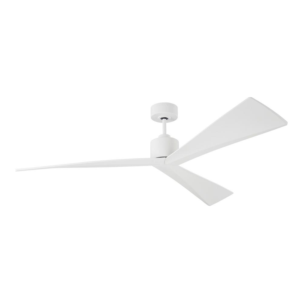 Monte Carlo Adler 60 in. Matte White Ceiling Fan with White Blades with Remote