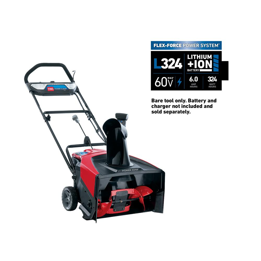 Toro Power Clear Cordless Electric Snow Blower 21 Inch 60V L