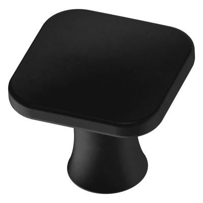 Lindley 1-3/16 in. (30mm) Matte Black Square Cabinet Knob