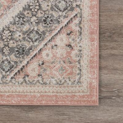 Dune Soft Pink/Gray 5 ft. 2 in. x 7 ft. 2 in. Traditional Persian Polypropylene Indoor Area Rug