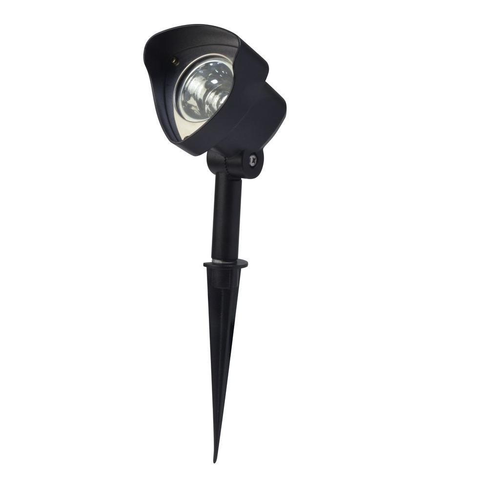 Low-Voltage 337-Lumen Black Outdoor Integrated LED Adjustable Landscape Spot Light